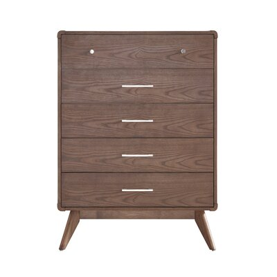 Grant 5 Drawer Chest Finish: Walnut
