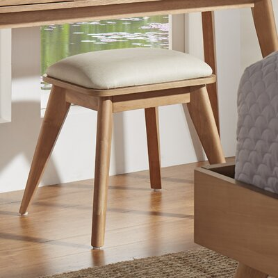 Grant Vanity Stool Color: Natural
