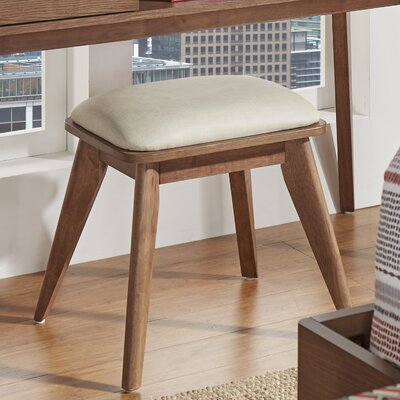 Grant Vanity Stool Color: Dark Walnut