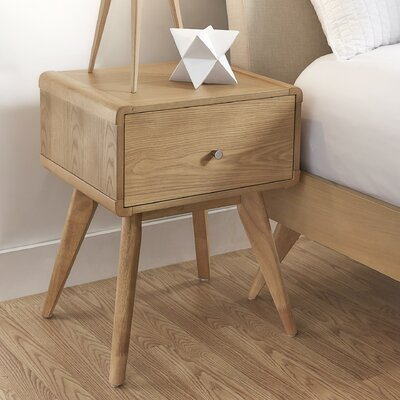 Grant 1 Drawer Nightstand Finish: Natural