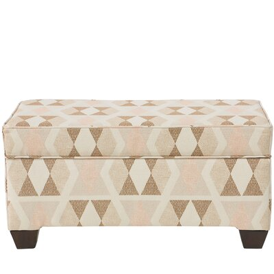 Ewing Storage Bench Ottoman Upholstery Color: Almasi Bogota