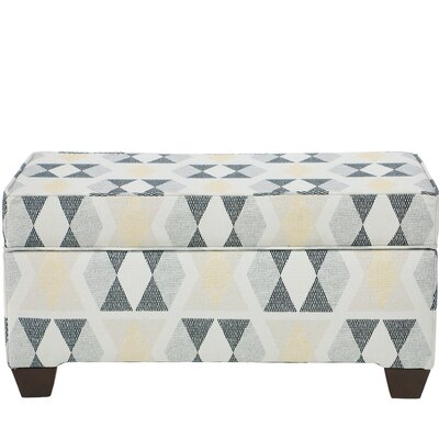 Ewing Storage Ottoman Upholstery Color: Almasi Madrid
