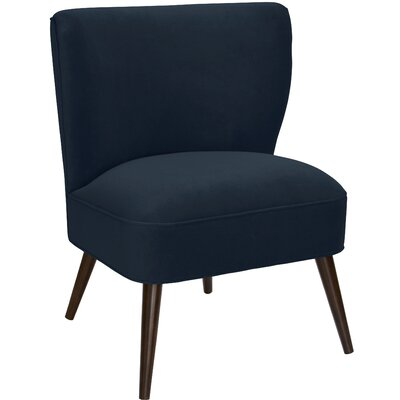 Payton Curved Side Chair Color: Navy