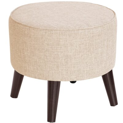 Hogan Round Ottoman with Splayed Legs Upholstery Color: White
