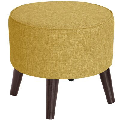Hogan Round Ottoman with Splayed Legs Upholstery Color: Golden