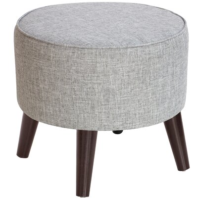 Hogan Round Ottoman with Splayed Legs Upholstery Color: Pumice