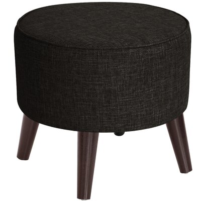 Hogan Round Ottoman with Splayed Legs Upholstery Color: Caviar