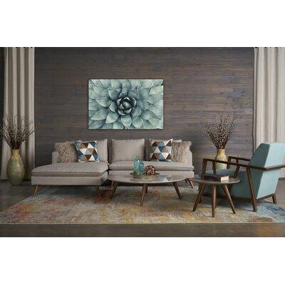 Oxnard 4 Piece Living Room Set Upholstery: Topaz
