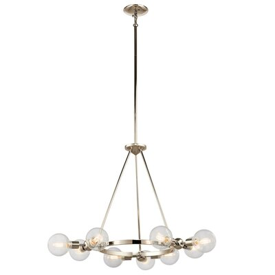 Fisk 9-Light Sputnik Chandelier