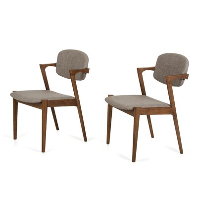 Virgil Side Chair Upholstery: Grey