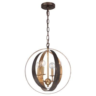 Mason 4-Light Globe Pendant