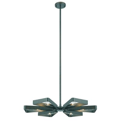 Mason 6-Light Cluster Pendant Size: 46 H x 27.75 W x 27.5 D, Finish: Gray