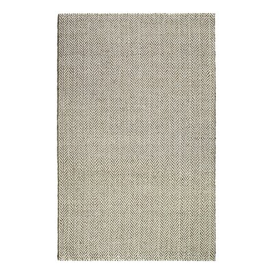 Nicola Hand-Made Cream Area Rug Rug Size: 9 x 12
