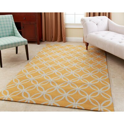 Serena Hand-Tufted Mustard Yellow Area Rug Rug Size: 5 x 8
