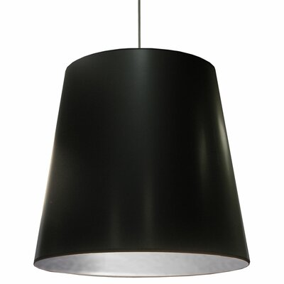 Santa Rosa 1-Light Pendant Shade Color: Black on Silver, Size: 32 H x 32 W x 26 D