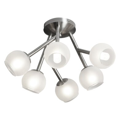 Marco 6-Light Semi Flush Mount Finish: Satin Chrome