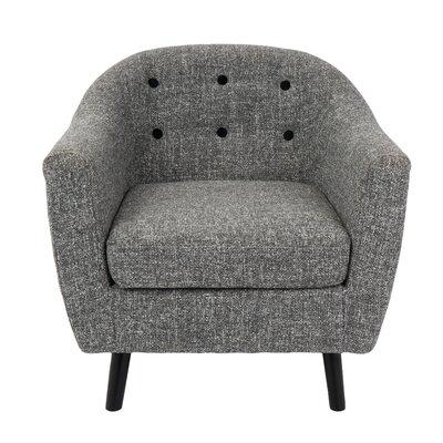 Henley Barrel Chair Upholstery: Dark Grey