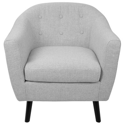Henley Barrel Chair Upholstery: Light Grey Noise