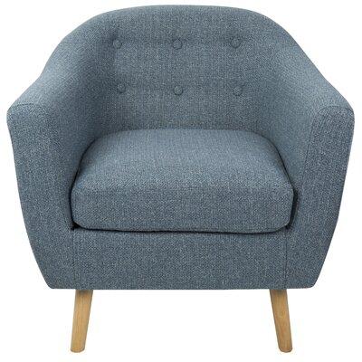 Henley Barrel Chair Upholstery: Blue
