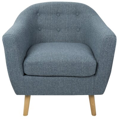 Henley Barrel Chair Color: Blue