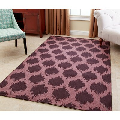Curtis Hand-Tufted Plum Area Rug Rug Size: 3 x 5
