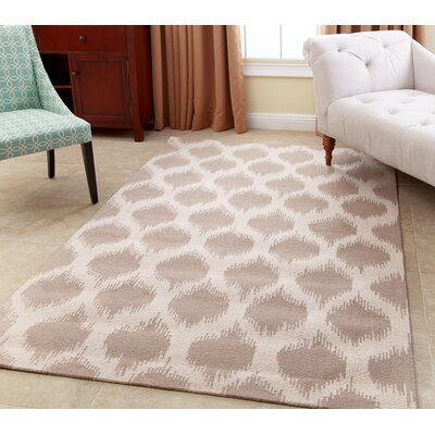 Curtis Hand-Tufted Wheat Brown Area Rug Rug Size: 5 x 8