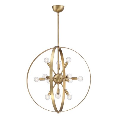 Caius 12-Light Globe Pendant Finish: Warm Brass