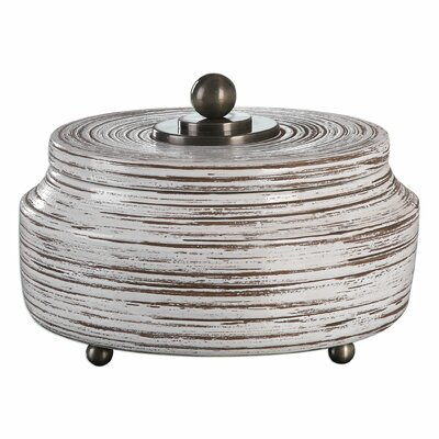 Lana Chocolate Brown/White Decorative Ceramic Box