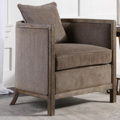 Stewart Chenille Tub Barrel Chair