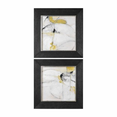 Trajectory Modern Abstract 2 Piece Framed Painting Print Set