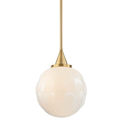 Lewis 1-Light Globe Mini Pendant Finish: Aged Brass, Size: 20 H X 15 W X 15 D