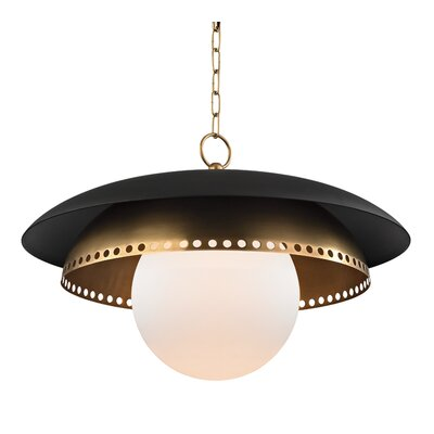 Irvine 1-Light Inverted Pendant Finish: Aged Brass, Size: 16.5 H X 25.5 W X 25.5 D