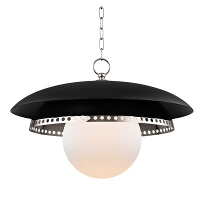 Irvine 1-Light Inverted Pendant Finish: Polished Nickel, Size: 11.5 H X 17.5 W X 17.5 D