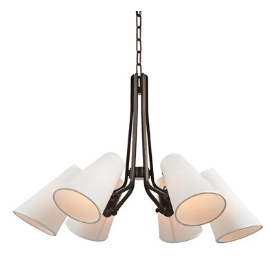 Alto 6-Light Shaded Chandelier Finish: Old Bronze