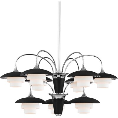 Kramer 9-Light Shaded Chandelier Finish: Polished Nickel