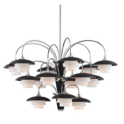 Kramer 15-Light Shaded Chandelier Finish: Polished Nickel