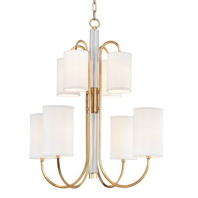 Ocala 8-Light Shaded Chandelier Finish: Aged Brass
