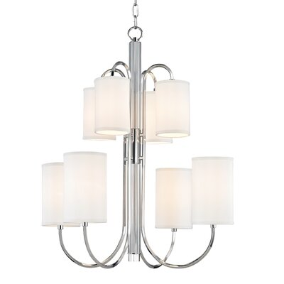 Ocala 8-Light Shaded Chandelier Finish: Polished Nickel