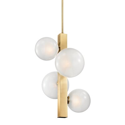 Merced 4-Light Mini Pendant Finish: Aged Brass