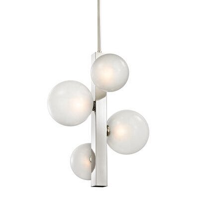 Merced 4-Light Mini Pendant Finish: Polished Nickel