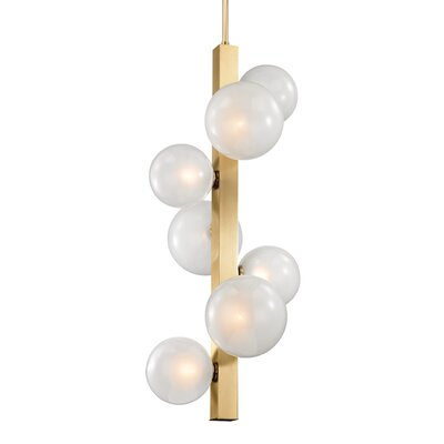Merced 7-Light Mini Pendant Finish: Aged Brass