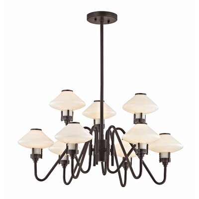 Milben 9-Light Shaded Chandelier Finish: Old Bronze