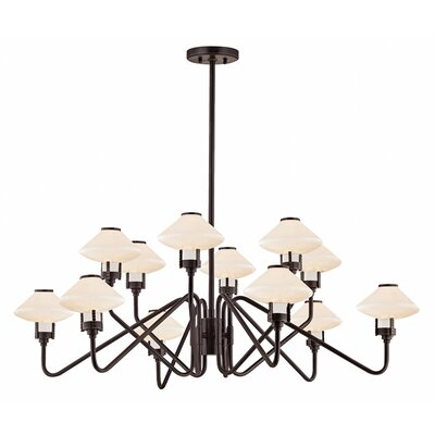 Milben 12-Light Shaded Chandelier Finish: Old Bronze