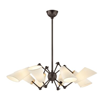Vita 8 Light Shaded Chandelier Finish: Old Bronze
