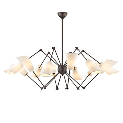 Vita 12 Light Shaded Chandelier Finish: Old Bronze