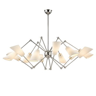 Vita 12 Light Shaded Chandelier Finish: Polished Nickel