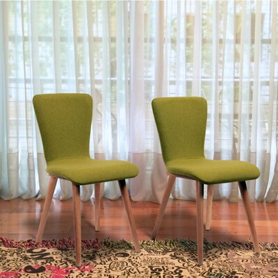 Perla Side Chair Upholstery: Textile Fabric - Green