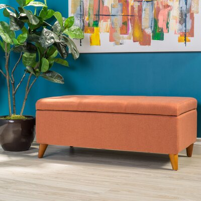 Goldwin Storage Ottoman Finish: Burnt Orange