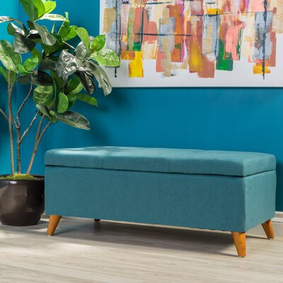 Goldwin Storage Ottoman Finish: Teal