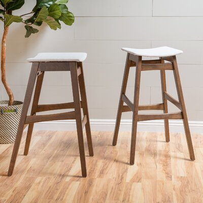 Burroughs 30 Bar Stool Upholstery: Light Beige